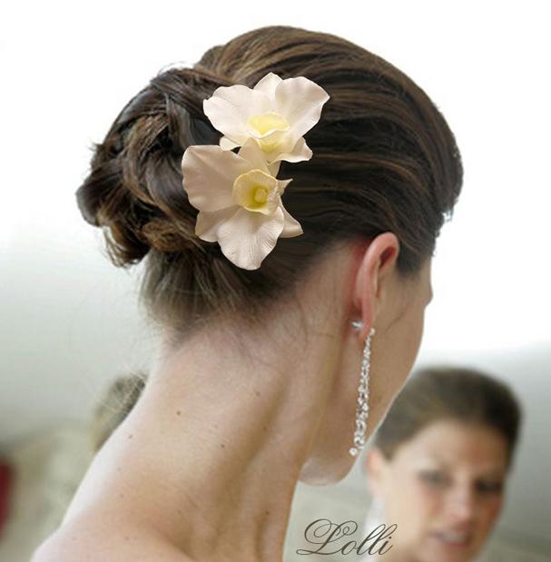 763e2c34a8 Dupla orchideás menyasszonyi fejdísz - Rendelhető!