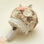Vintage csipkeszoknyás menyasszonyi csokor  - Rendelhető! - 16000.-