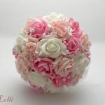 Pink-Rózsaszín gyöngyösmenyasszonyi csokor - Rendelhető
